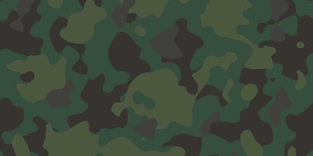 Green Forest Vector Camouflage Pattern