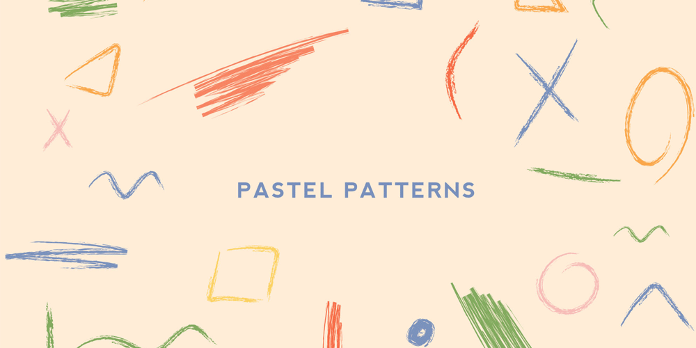Handmade Pastel Sketches and Patterns
