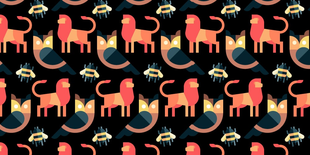 Lions-owls-and-bears-seamless-Patterns