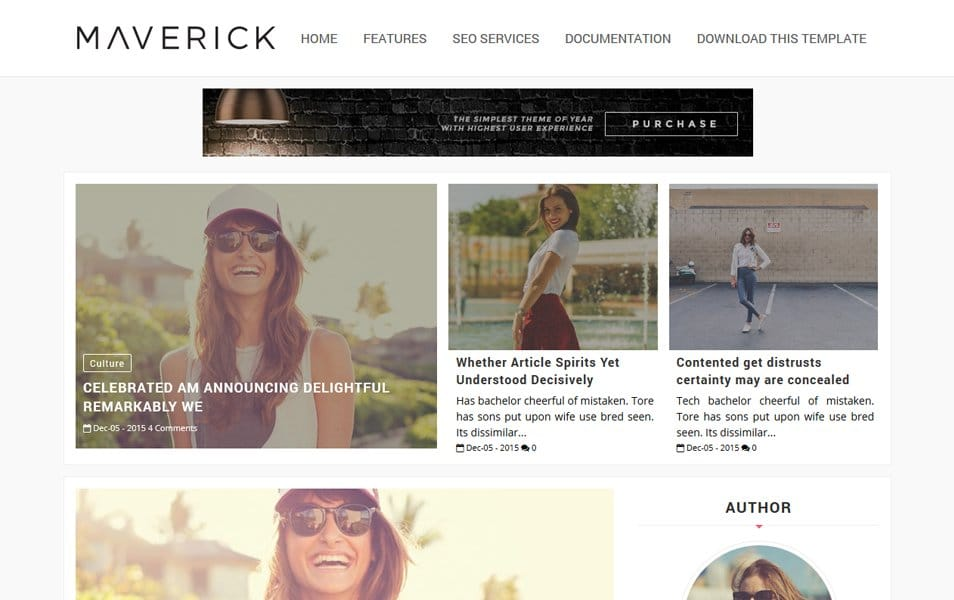 Template Blogger Responsif Maverick