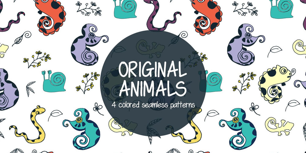 Original Animals Illustration Vector Pattern
