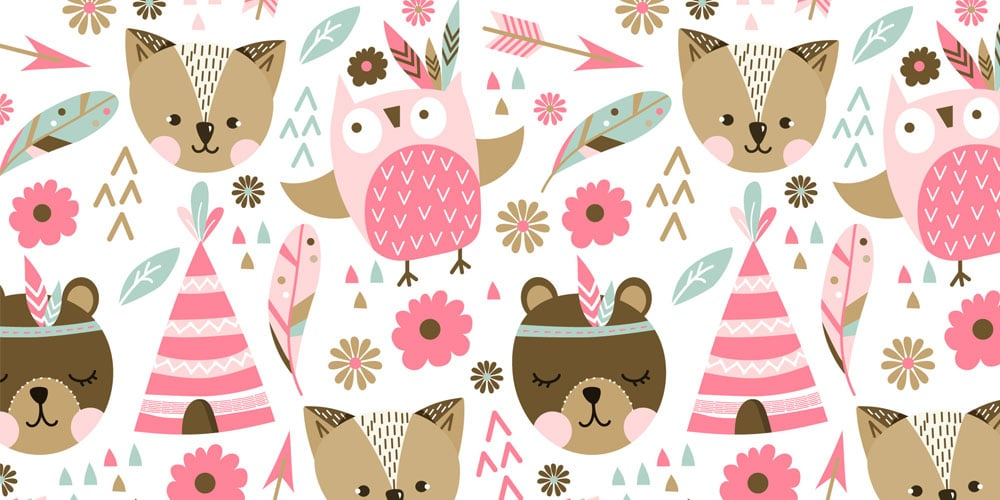 Pink Animals Pattern