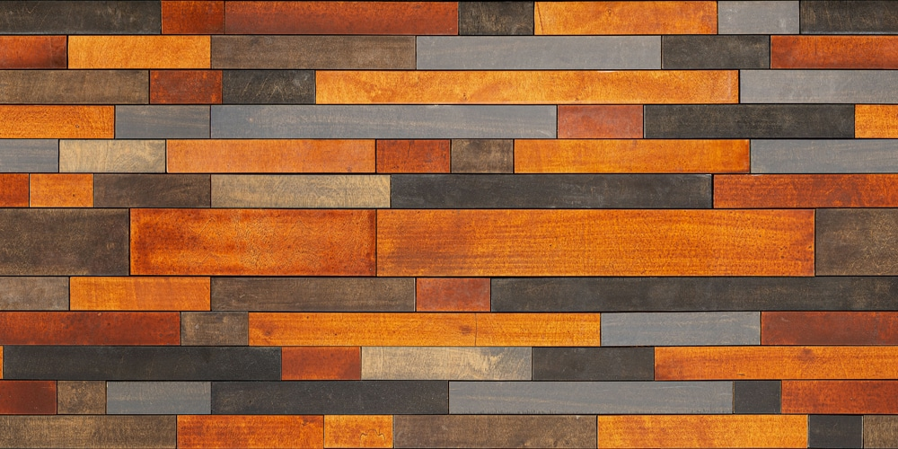 Playful Wood Wall Mosaic Seamless Pattern