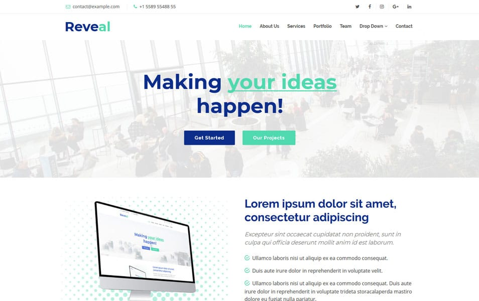Reveal Bootstrap Theme