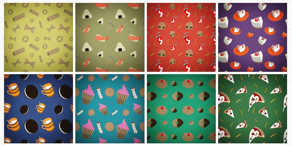Seamless Food Patterns