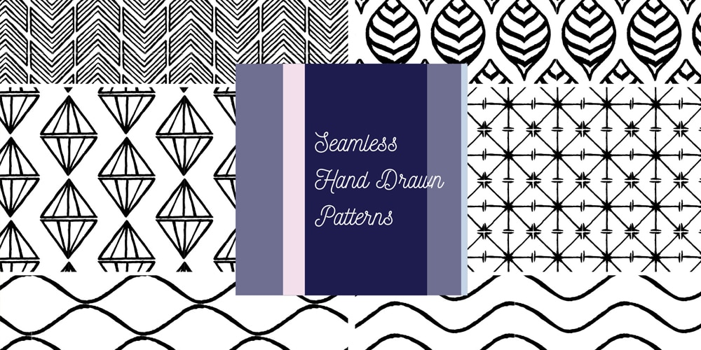 Seamless Hand Drawn Vector Patterns