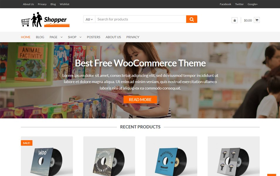 50+ Free eCommerce WordPress Themes 2017