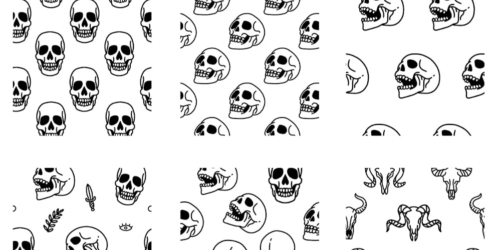 Skull Head Seamless Pattern