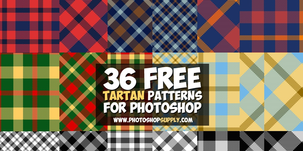Tartan Plaid Patterns for Photoshop