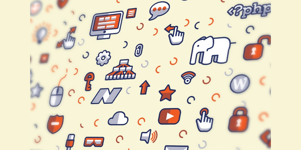 Technology Icons Pattern Vector