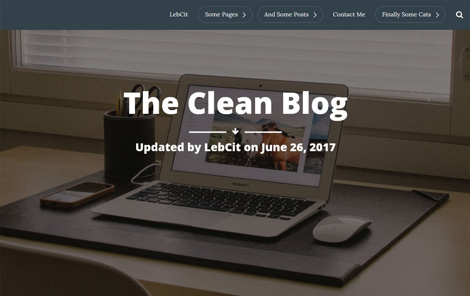 The Clean Blog