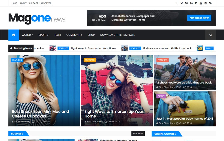 The MagOne Responsive Blogger Template