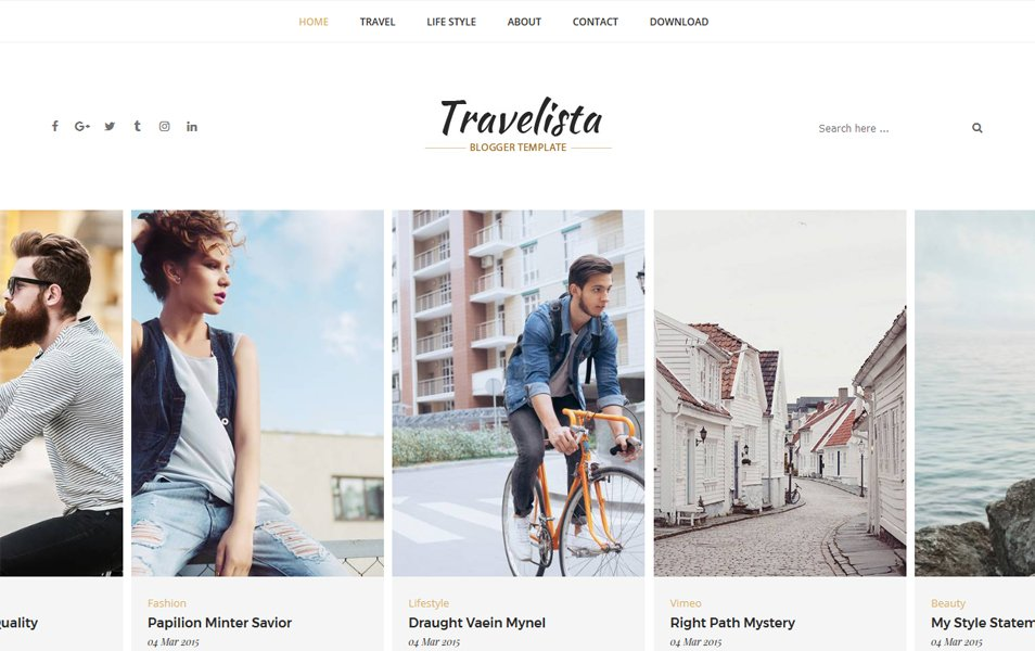 Travelista Responsive Blogger Template