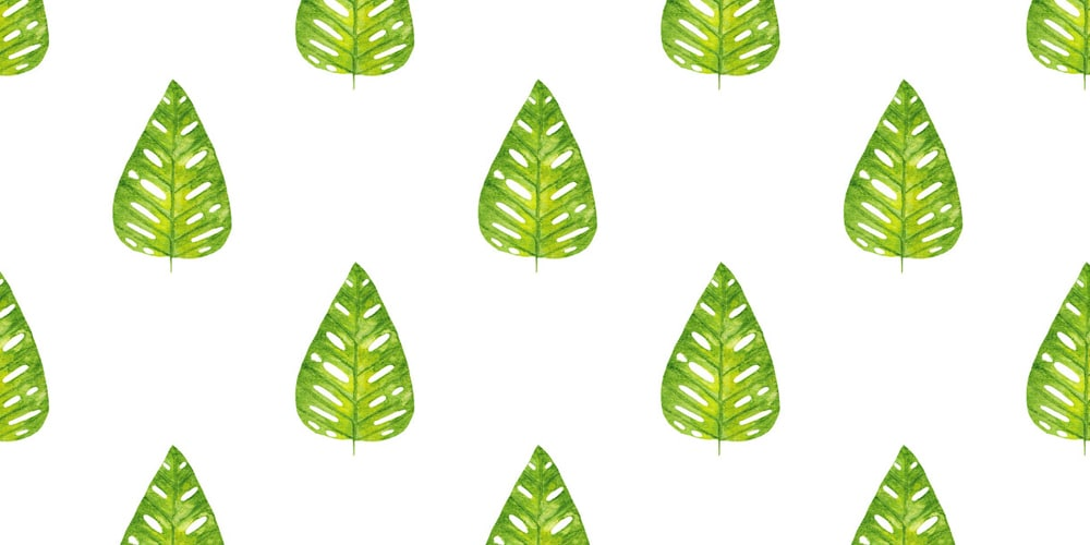 Watercolor Leaf Seamless Patterns
