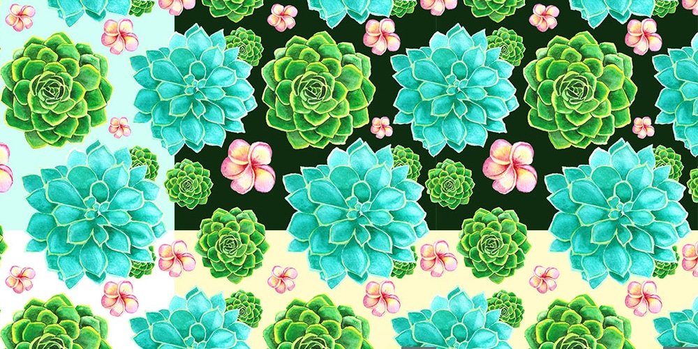 Watercolor Seamless Patterns PSD