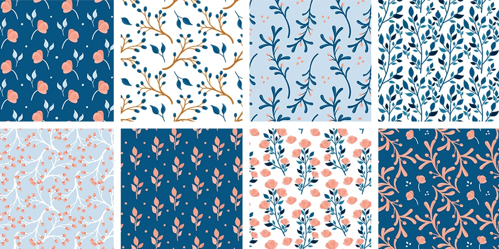 floral patterns with flowers