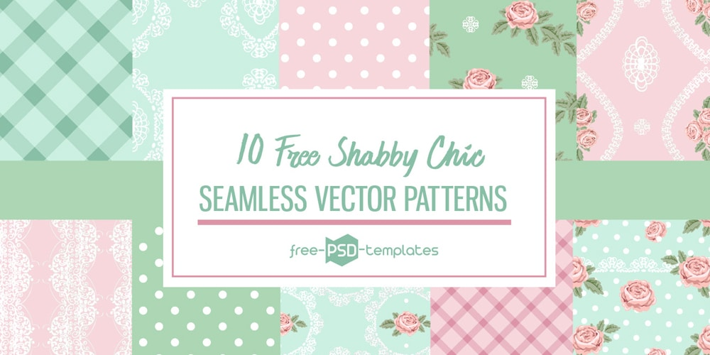 free seamless shabby chic patterns