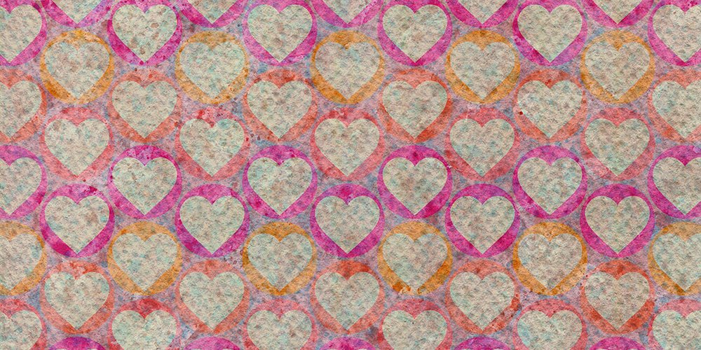 free watercolor heart patterns