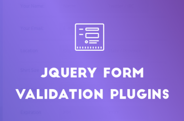 25+ jQuery Form Validation Plugins
