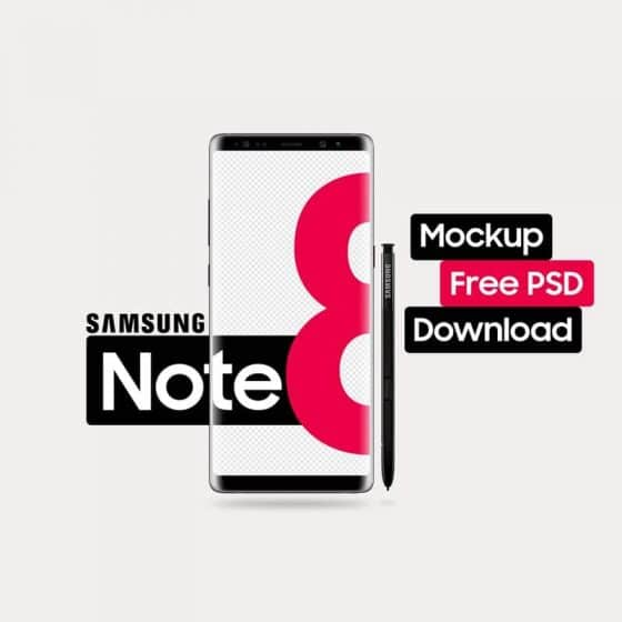 Best Samsung Galaxy Note 8 Mockup Templates