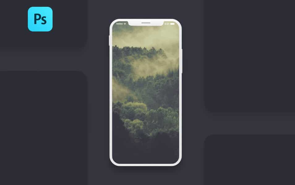 Free Iphone X Screen PSD Mockup