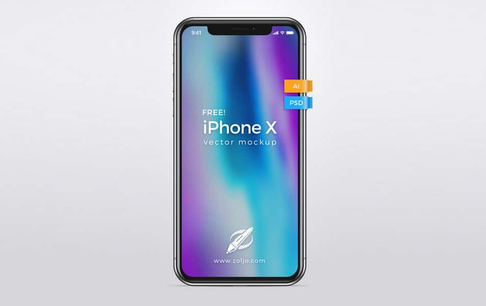 Free Iphone X Vector Mockup