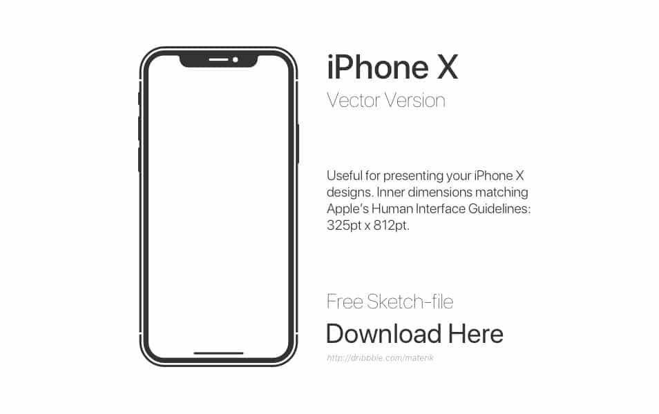 Free downloadable iPhone X Vector Sketch-file