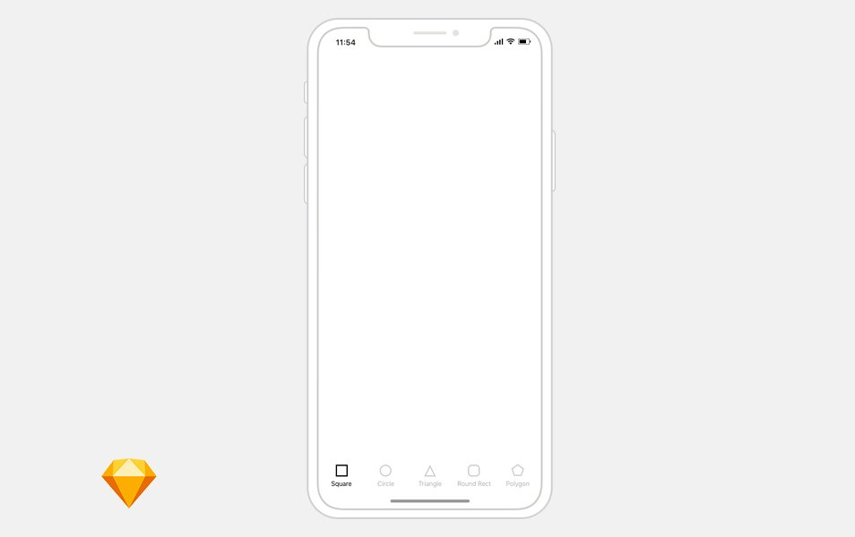 Free iPhone X wireframe template