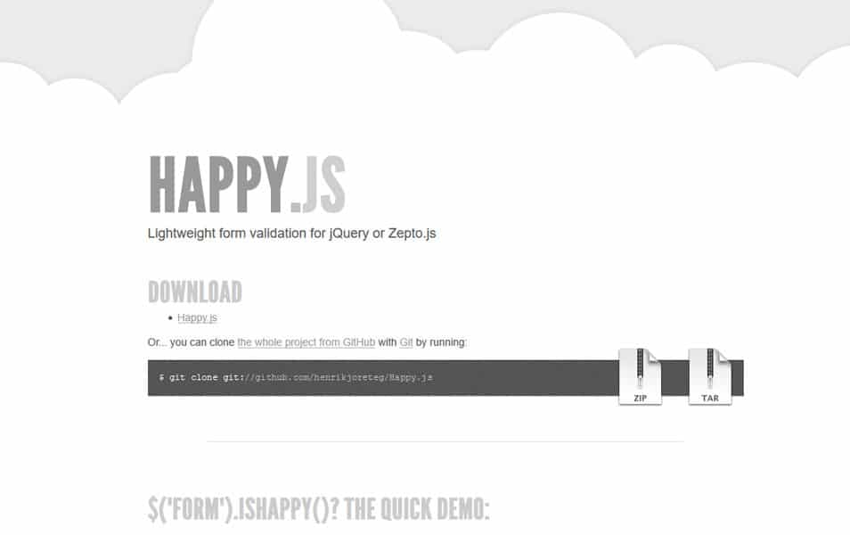 Happy.js jQuery Form Validation Plugin