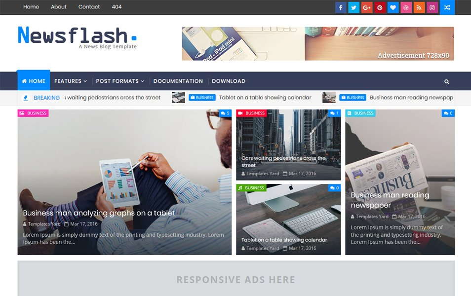 Template Blogger Responsif Newsflash