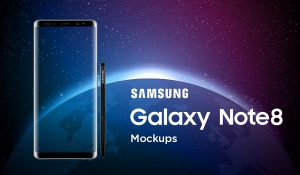 Samsung Galaxy Note 8 Mockup Templates