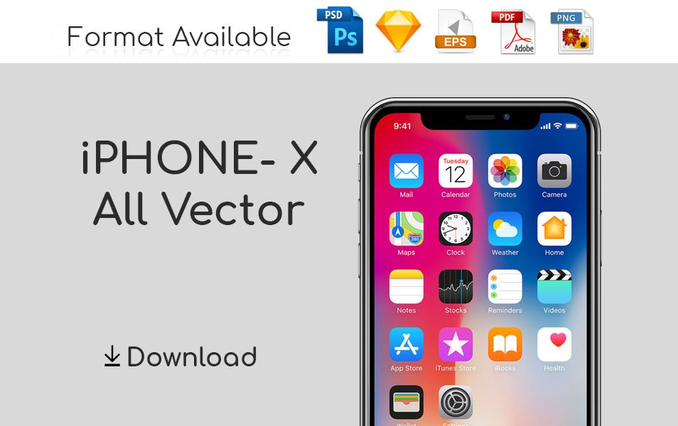 iPhone X - 10 All Vector