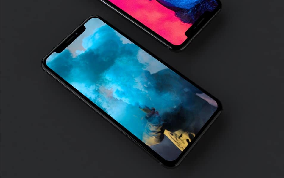 iPhone X Dark Mockup