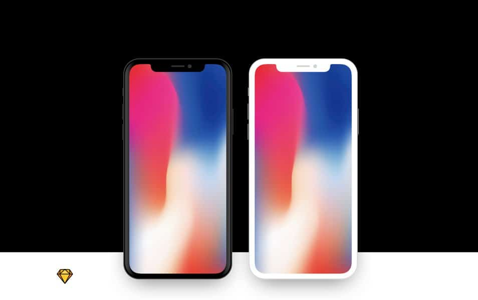 iPhone X Flat Device Mockup