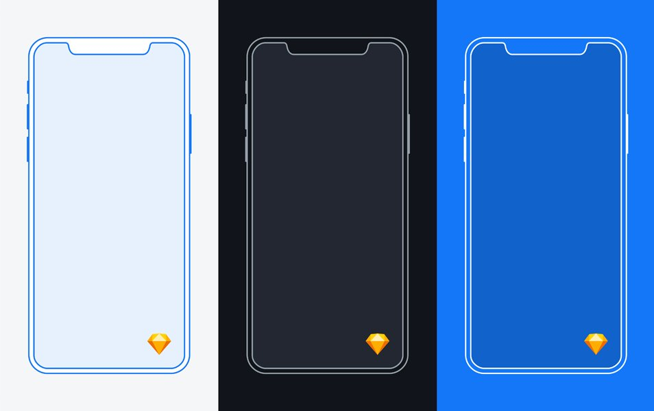 iPhone X Mockup Freebie for Sketch