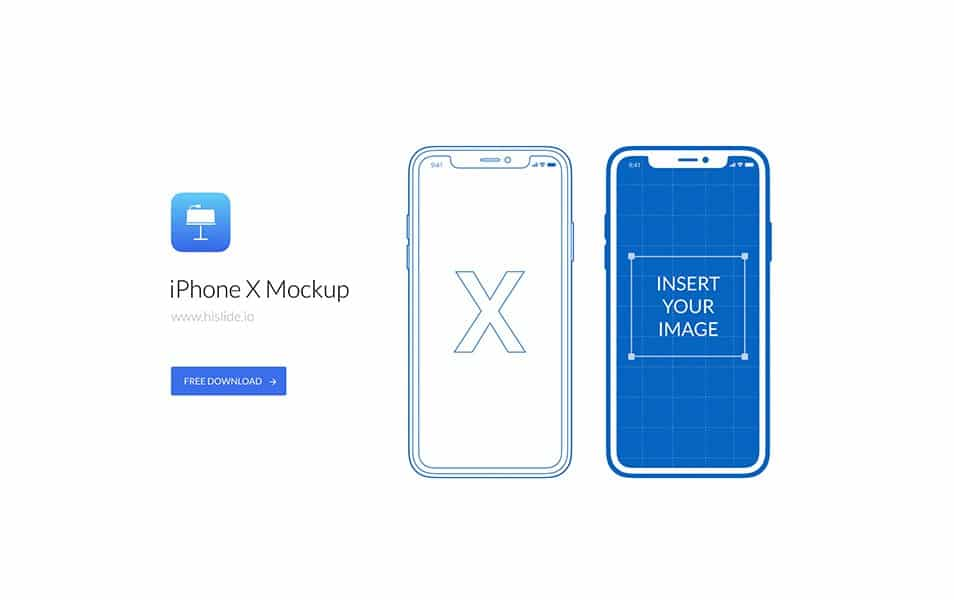 iPhone X Mockup for Keynote