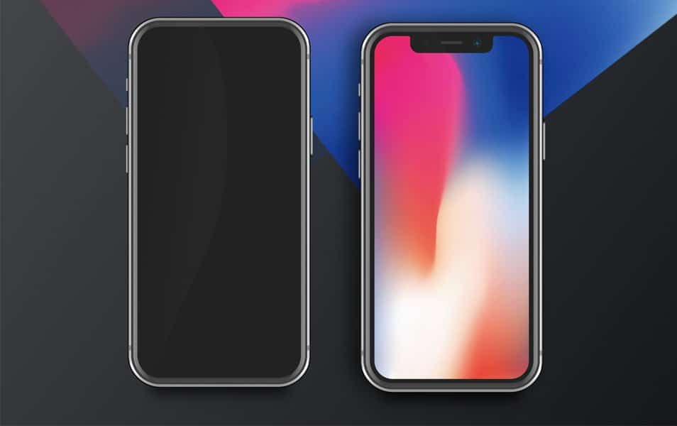 iPhone X Mockup for Sketch