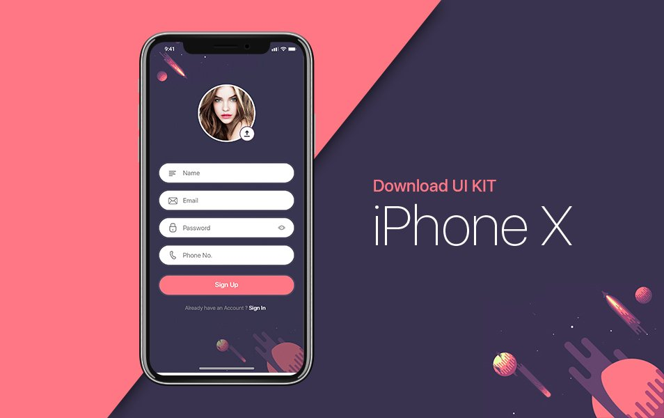 iPhone X | Sign Up UI Kit