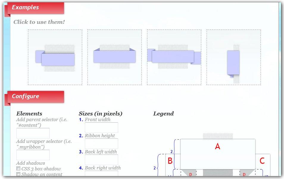 3D Ribbon Generator | CSS3d