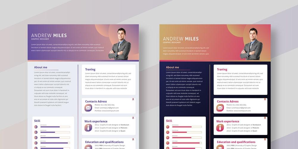 Resume Design Free from cssauthor.com