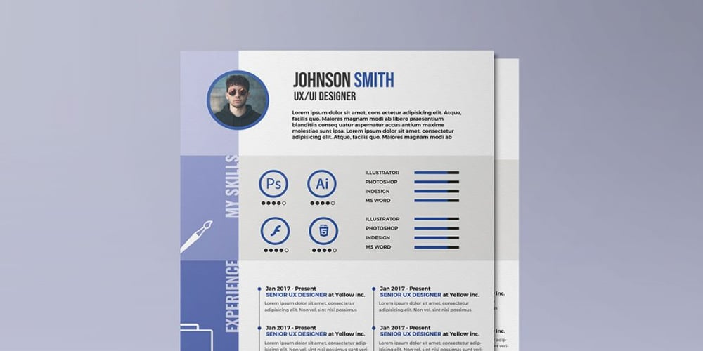 A4 Size Designer Resume Template