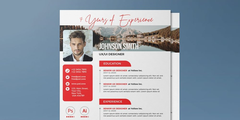 A4 Size Vertical Resume CV Template