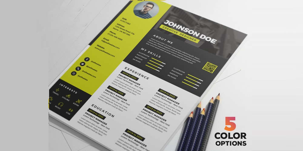 Awesome Resume CV Design PSD