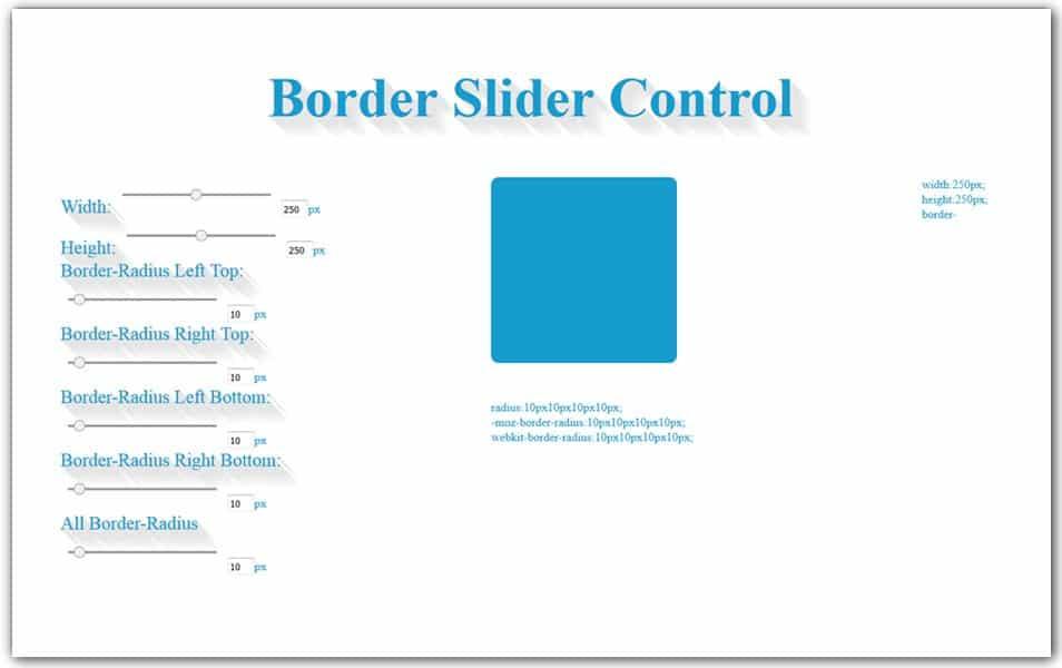 Border Radius CSS Generator