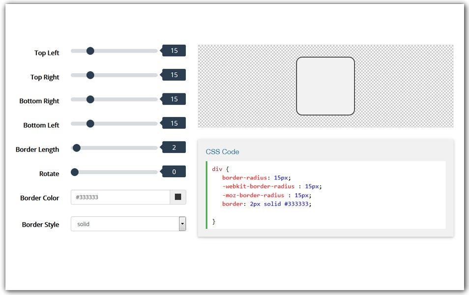 Border Radius Generator | CSS Tools
