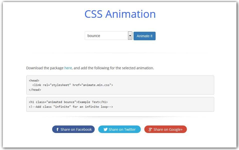 CSS Animation Generator | CSS Portal