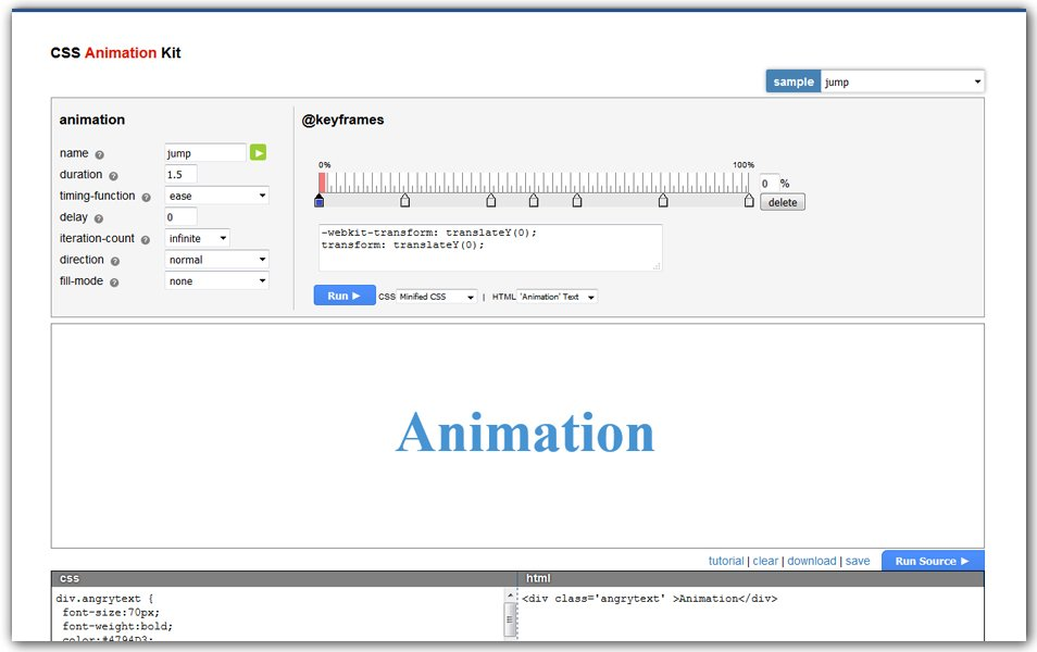 CSS Animation Kit | AngryTools