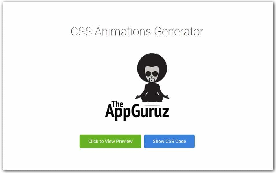 CSS Animations Generator | TheAppGuruz