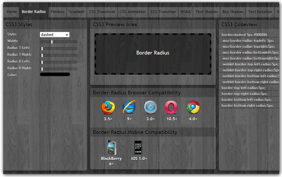 CSS Border Radius | CSS3maker