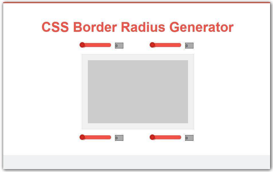CSS Border Radius Generator | CSS3 Developers